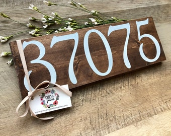 Zip Code Decor, Housewarming Gift, Rustic Wall Decor, City State Sign, Farmhouse Style, Wood Plank, Wedding Gift, Realtor, Closing Gift