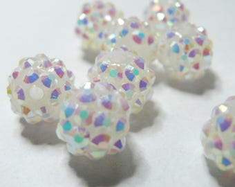 10 pearls 12 * 10mm white shambala