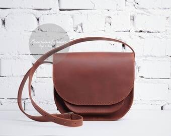 Crossbody bag purse, leather crossbody bag, small leather bag, women leather bag, leather saddle bag, mini leather bag, leather shoulder bag