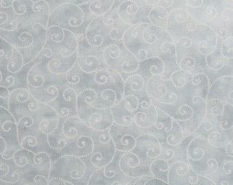 "Moda Basics ""MARBLE SWIRLS""  ~ 9908-80 Dove Grey~ Tonal Pastel Grey with Swirls ~ Half Yard Increments"