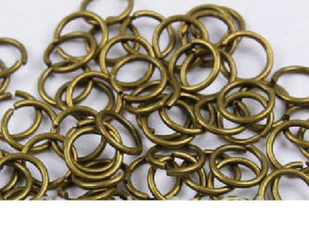 set of 20 rings plated bronze 6 mm