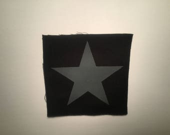 Blackstar hand printed patch