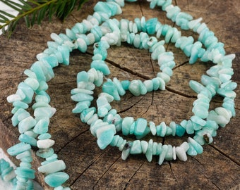 "34"" AMAZONITE Chip Necklace - Peruvian Amazonite Bead Necklace, Amazonite Jewelry, Amazonite Necklace, Amazonite Crystal Necklace E0823"