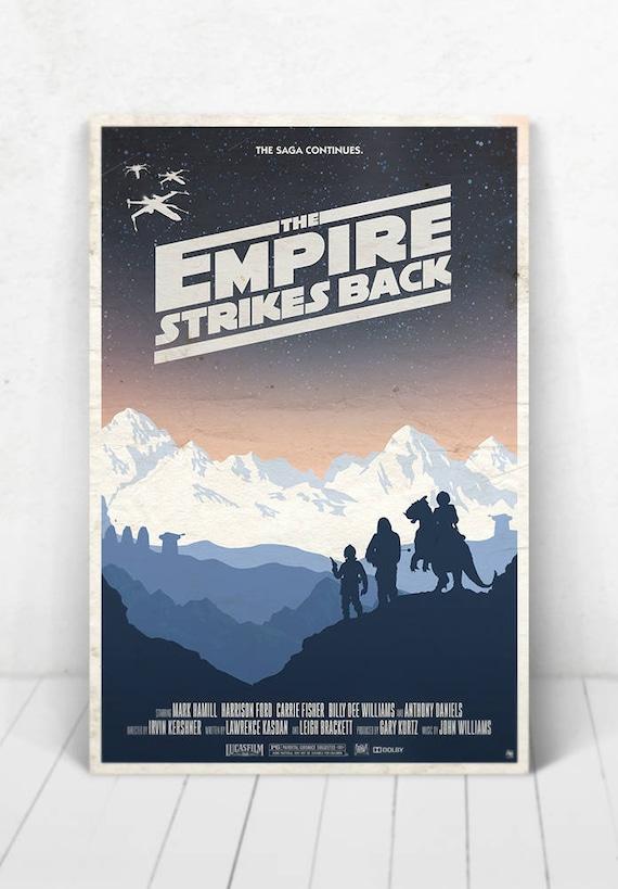 Star Wars Movie Poster Illustration / Star Wars Movie Poster / Movie Poster / Star Wars / The Empire Strikes Back