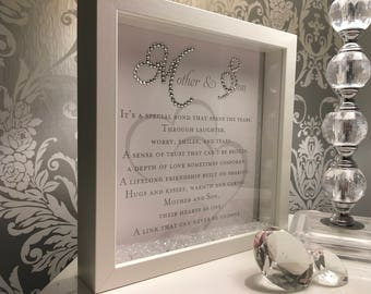 Beautiful Mother and Son crystal sparkle frame.