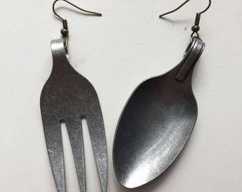 Cute Spoon and Fork Earrings Jewelry