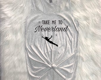 Take me to neverland Triblend racerback, Neverland racerback tank, Disney inspired, Take me to neverland shirt