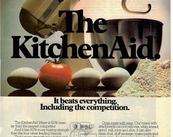 1984 KitchenAid kitchen wares vintage magazine ad kitchen decor wall decor 1705