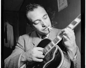 ON SALE Django Reinhardt - New York City - ca. Nov. 1946 by Bill Gottlieb - Django Reinhardt - Photo - Print - Art - Vintage - NYC - Photogr