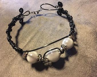 Fancy Black Aluminum bracelet