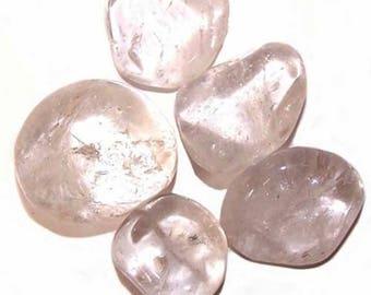 """Rock crystal - semi precious stone """"rolled"""""""