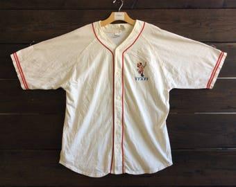 Vintage 90s Mickey Mouse Baseball Tee