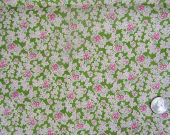30 by 60 inch fabric remnant vintage floral fabric