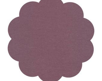 Organic KNIT fabric. Dark mauve/peat colored knit. Sewing/crafting knit fabric supply. Apparel knit fabric. Solid knit.