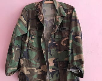 Camouflage Army Jacket with deer motive