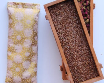Therapeutic, Relaxing Yoga/Meditation Flaxseed Filled Eye Pillow - Gift for Yogi