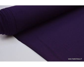 Fabric ultra soft Jersey viscose bamboo color Blueberry (purple)