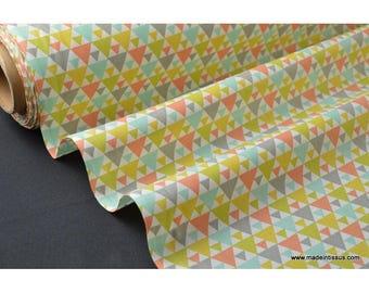 tissu popeline coton imprimé dessin tigaya mixte x50cm