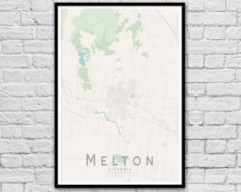 Melton VIC City Street Map Print | Wall Art Poster | Wall decor | A3 A2