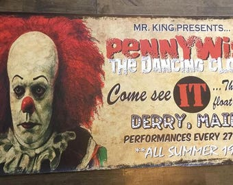 Large Pennywise banner, Stephen King's IT
