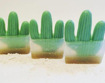 Arizona Prairie, Saguaro Soap, Cactus Soap, Succulent Soap, Glycerin Soap, Handmade Soap, Cactus & Sea Salt Soap, Plant Soap, Saguaro, Soap