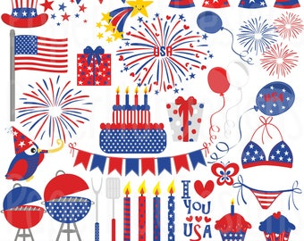 4th of July Clipart-4th of July Clip Art-Independence Day Clipart-USA Clipart-Patriotic Clipart-Patriotic Clip Art-Stars and Stripes Clipart