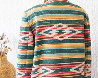 90's  Maurizio Ramani Ikat Wool Jacket