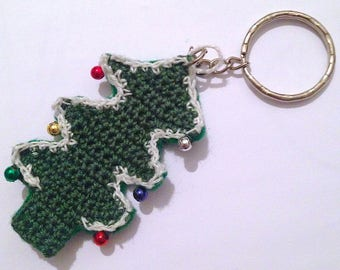 Christmas tree Keychain handmade crochet