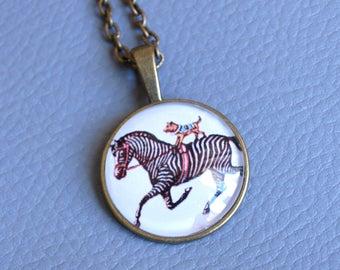 Zebra - Circus - Acrobat pendant