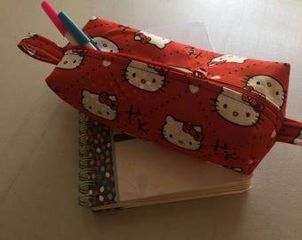 red hello Kitty pencil case