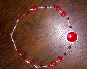 Red and silver necklaces