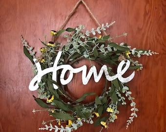 Home Dried Daisy Wreath