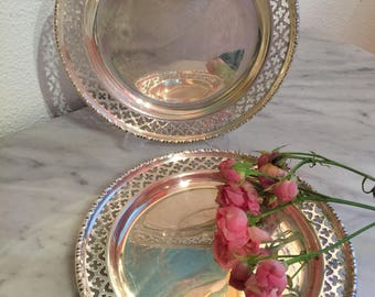 Vintage Silver Plate Dishes- Two EPNS Silver Plate Dishes