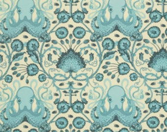 Tula Pink Aqua Octo Garden Cotton Fabric