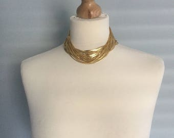 Vintage 80's bundle of gold plated 16'' chains project jewellery making