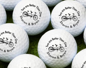Two Are Better Than One Personalized Golf Balls - Bulk Price Available (MIC-PWRDGB46)