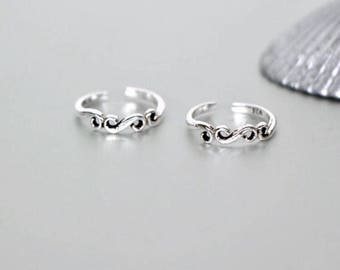 Silver Toe Ring, Indian Toe Ring, Oxidized Silver Toe Ring, Boho Jewelry, Ethnic Toe Ring,Delicate Toe Ring, Foot Accessories,(TS 49)