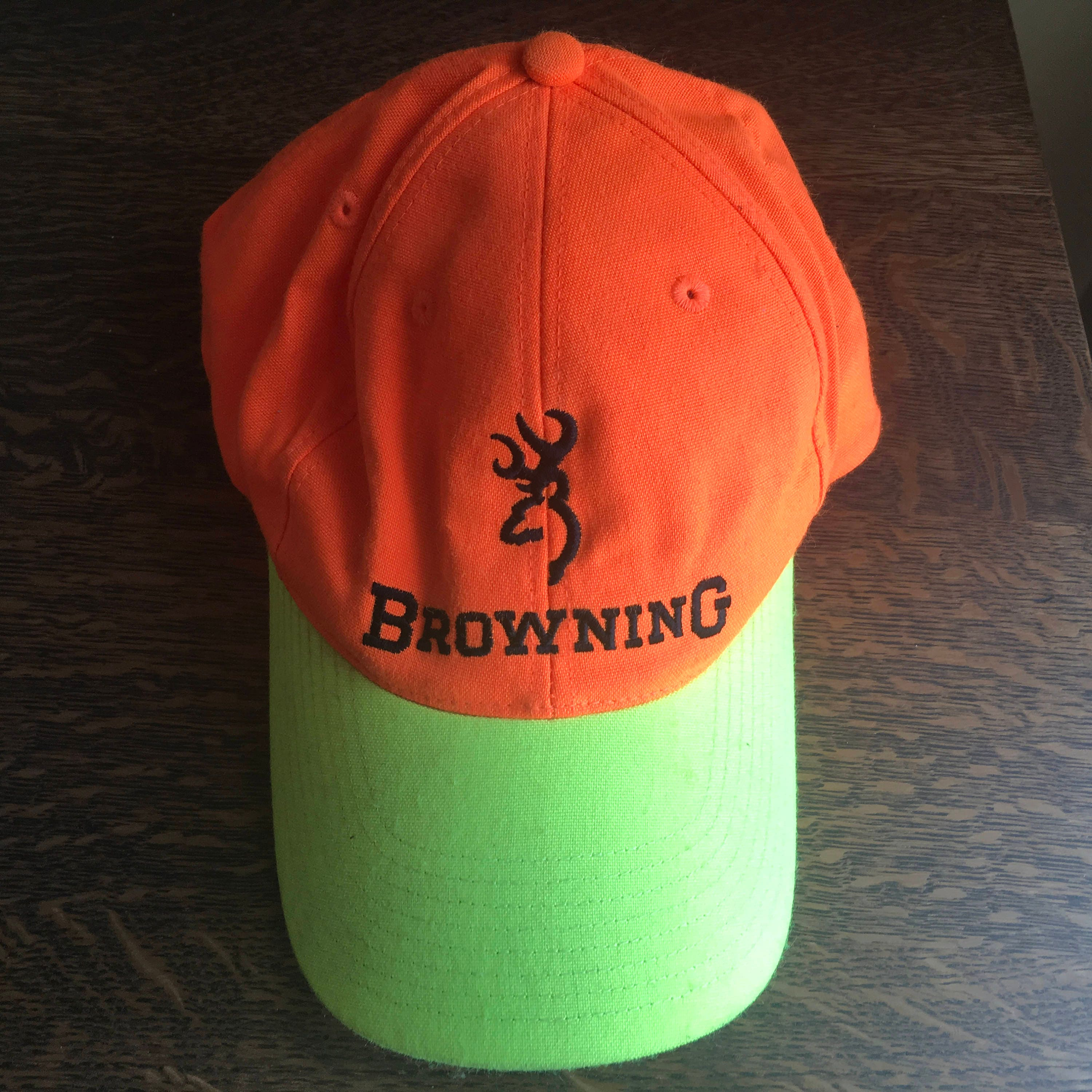 7d02e79ff6fb4 ... sale france browning hunting cap blaze orange and chartreuse green  baseball truckers hat 9e9d4 25691 530bc