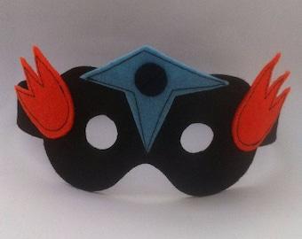 Kids costume accessory - blue and orange - mask superhero Wonder