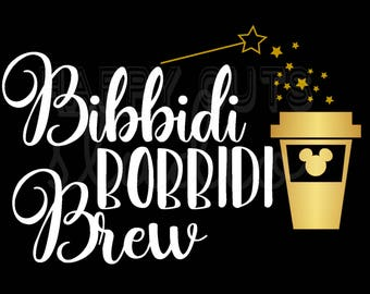 Bibbidi Bobbidi Brew Disney World Food and Wine Festival Coffee Cinderella Matching Family Mom Wife Women's Ladies Iron Vinyl Decal 4 shirt
