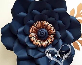 SVG Flower Template 76, DIY paper flowers, flower templates