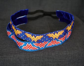 DC, Wonder Woman Inspired Non-slip Headband - Red, Yellow