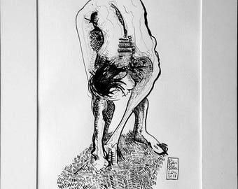 Femmes nues dessin | Etsy