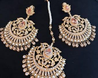 AZEEN Baali and Tikka Set, Champagne Gold