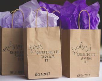 Bachelorette Survival Kit, Bachelorette Party Favors Hangover Kit, Bachelorette Party Favor Bags, Bridesmaid Gift, Bachelorette Party, Bache