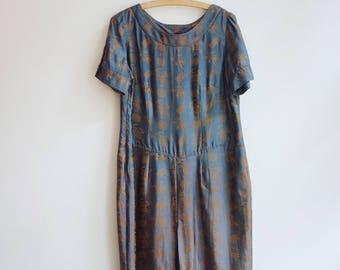 vintage oriental asian style kimono dress tunic S/M