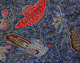 Bird and Floral Print African Wax Print Cotton