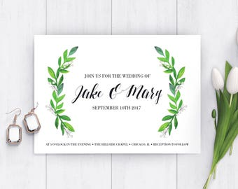 Floral Elegant Wedding Invitation
