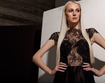 Dress silk and lace