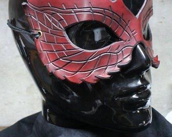 masque en cuir dragon